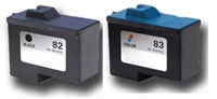 Lexmark No. 82 & 83 Remanufactured Ink Cartridge Tw0 Pack Value Bundle