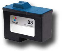 Lexmark 18L0042 (No. 83) Remanufactured Color Ink Cartridge