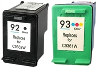 HP C936 Series (HP 92 & 93) Remanufactured Ink Cartridge Two Pack Value Bundle