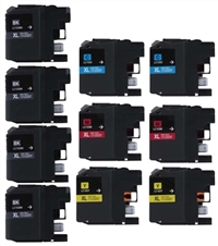 Brother LC103 Compatible Ink Cartridge 10 Pack Value Bundle