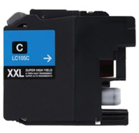 Brother LC105C Compatible Super High Yield Cyan Ink Cartridge