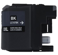 Brother LC107BK Compatible Super High Yield Black Ink Cartridge