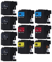 Brother LC107BK/LC105 Compatible Ink Cartridge Super High Yield 10 Pack Value Bundle