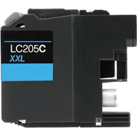 Brother LC205C Compatible High Yield Cyan Ink Cartridge