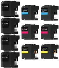 Brother LC207/LC205 Compatible Ink Cartridge High Yield 10-Pack Value Bundle
