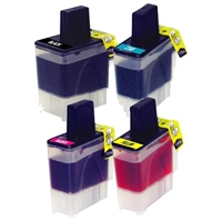 Brother LC41 Compatible 4-Pack Inkjet Cartridge Value Bundle