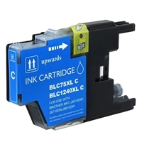 Brother LC75C Compatible Cyan Ink Cartridge