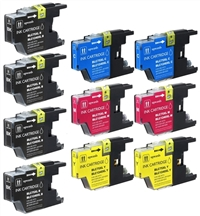 Brother LC75 Compatible Ink Cartridge Value Bundle (Includes 4 Black, 2 Each C/M/Y)