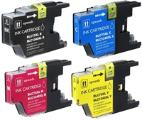 Brother LC75 Compatible 4-Pack Ink Cartridge Value Bundle