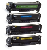 HP 305A Compatible Toner Cartridge Color Set (CE410X, CE411A, CE412A, CE413A)