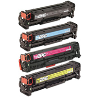 HP 304A Toner Cartridge Value Bundle Color LaserJet CM2320, CP2025 Compatible Series (K/C/M/Y)
