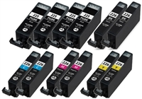 Canon CLI-226 Series Compatible Ink Cartridge Value Bundle (Includes 4 Pigment Black, 2 Each Bk/C/M/Y)