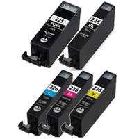 Canon CLI-226 Series Compatible Ink Cartridge 5-Pack Value Bundle