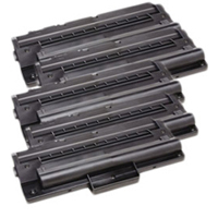Toner Cartridge 5-Pack Value Bundle Compatible With Samsung ML-1710D3, SCX-4100D3