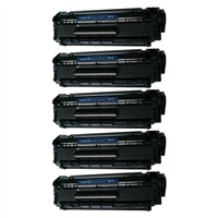 HP Q2612A (HP 12A) Five Jumbo Black Compatible Laser Toner Cartridge - 2X Page Yield