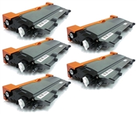 Compatible Brother TN450 High Yield Toner Cartridge 5-Pack Black