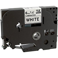"Brother TZe211 Compatible Black On White P-Touch Label Tape 1/4"" x 26'"
