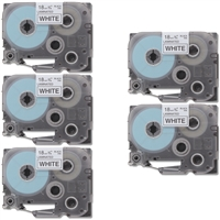 "Brother TZe241 Compatible Black On White P-Touch Label Tape 3/4"" x 26' Five Pack"