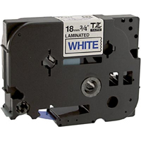 Brother TZe243 Compatible Blue On White P-Touch Label Tape