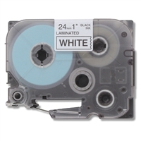Brother TZe251 Compatible Black On White P-Touch Label Tape