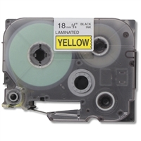 Brother TZe641 Compatible Black On Yellow P-Touch Label Tape
