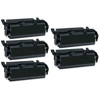Compatible Black Toner Cartridge 5-Pack for Lexmark X651H11A