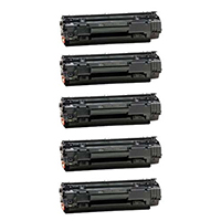 HP CB436A (HP 36A) Compatible Jumbo Toner Cartridge 5-Pack
