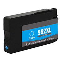 HP L0S61AN (HP 952XL) Remanufactured High Yield Cyan Ink Cartridge