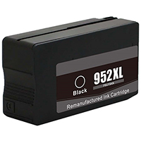 HP F6U19AN (HP 952XL) Remanufactured High Yield Black Ink Cartridge