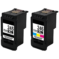 Canon PG-245XL / CL-246XL Remanufactured Ink Cartridge High Yield 2-Pack