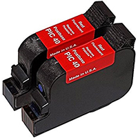 Francotyp-Postalia PIC40 Remanufactured Red Ink Cartridge 2-pack