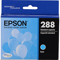 Genuine Epson T288220 Cyan Ink Cartridge - OEM