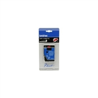 "Brother TC6001 OEM Black On Blue P-Touch Label Tape 1/2"" x 25'"