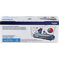 Brother TN225C OEM High Yield Cyan Toner Cartridge