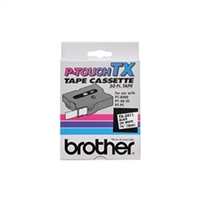 "Brother TX2411 OEM Black On White P-Touch Label Tape 3/4"" x 50'"