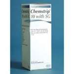 Chemstrip 10 w/SG Urine Reagent Strips (100 per bottle)