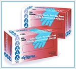 Safe Touch Nitrile Exam Gloves Powder Free - Large (100/box)