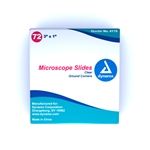 "Microscope Slides, 3"" x 1"", clear, corner grounded (72 per box)"