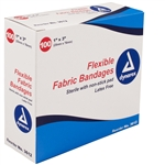 "Adhesive Bandages, Fabric 1"" x 3"", Sterile (100/box)"