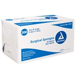 "Surgical Gauze Sponge - 3""x 3"" 8 Ply; Non-Sterile (200 per pack)"