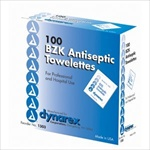 BZK Antiseptic Towelettes (100 per box)