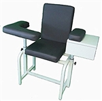 Premium Phlebotomy Blood Drawing Chair with Padded Seat & Drawer