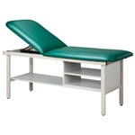 Clinton Industries Alpha Series Treatment Table with Shelving