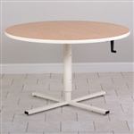 Clinton Round Top Hand Crank Adjustable Table