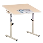 Clinton Person Work Table With Tilt Top