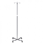 Clinton Industries Economy 4-Leg, 2-Hook IV Pole