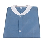 Lab Coat WITH Pockets with SMS; Dark Blue (30 per box)
