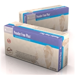 Powder Free Plus Latex Exam Gloves, PolyLined - Small 10/100/Cs