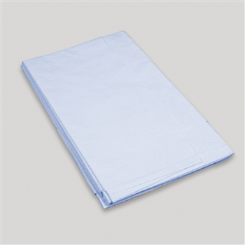 Drape Sheets (Blue) 2ply Tissue 40 x 60 100/cs