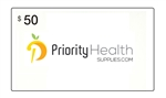 $50 Priority Health Supplies Gift Card